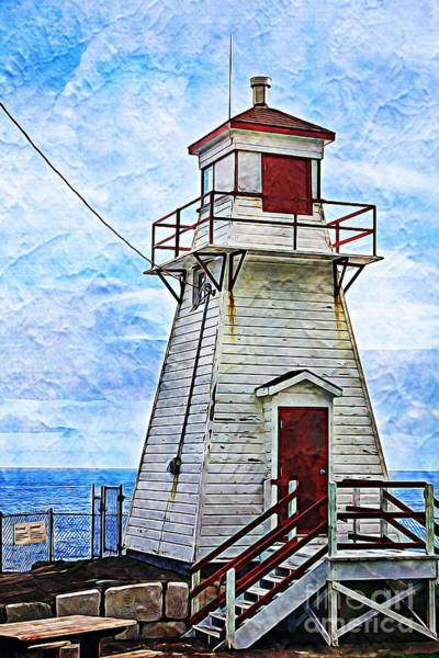 Photograph - Lighthouse In St. John's Newfoundland by Tatiana Travelways