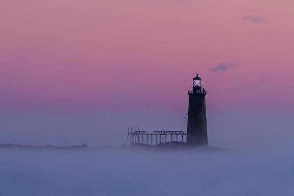 Photograph - Lighthouse In The Clouds by Colin Chase