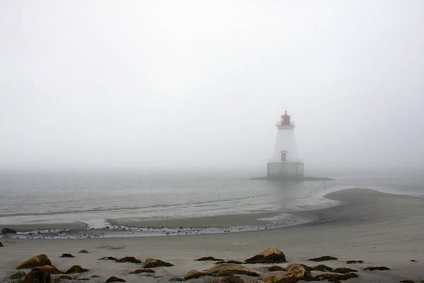 Photograph - Lighthouse In The Fog by Tatiana Travelways