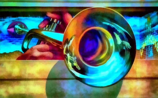 Trumpet Mixed Media - Lighthouse Jazz Art by Joseph Hollingsworth