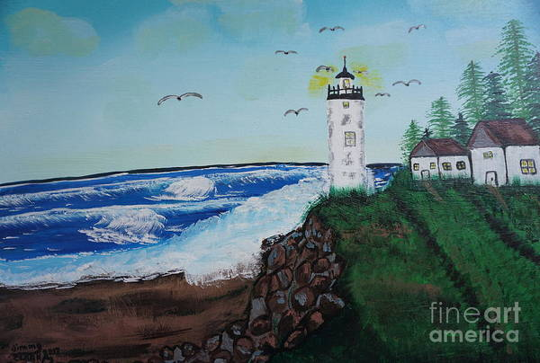 Painting - Lighthouse by Jimmy Clark