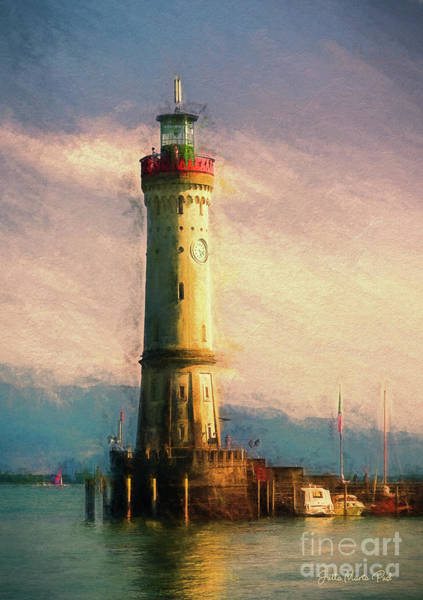 Digital Art - Lighthouse by Jutta Maria Pusl