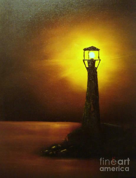 Anglin Wall Art - Painting - Lighthouse by Kalib Anglin