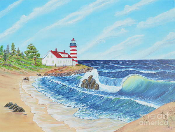 Painting - Lighthouse Life by Mary Scott