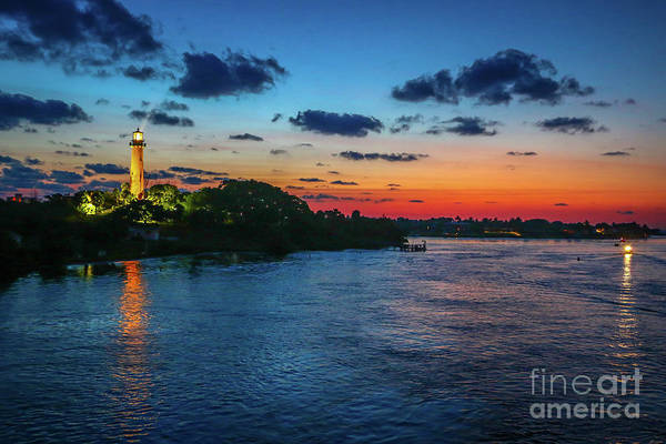 Art Print featuring the photograph Lighthouse Light Beam by Tom Claud