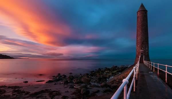 Sunset Digital Art - Lighthouse by Maye Loeser