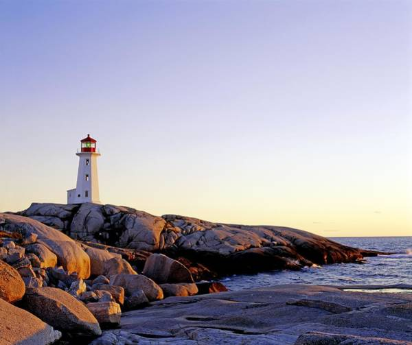 Oceanfront Photograph - Lighthouse On Peggys Cove, Nova Scotia by David Chapman