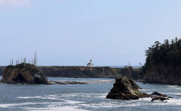 Photograph - Lighthouse On The Oregon Coast  by Christy Pooschke
