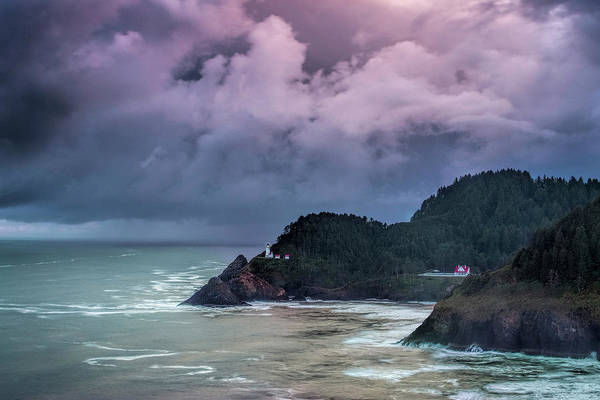 Wall Art - Photograph - Lighthouse Over The Rugged Coast by Andrew Soundarajan