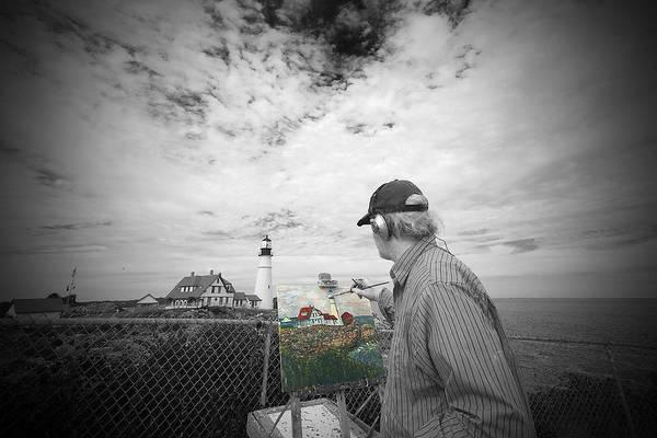 Lighthouse Painter Art Print