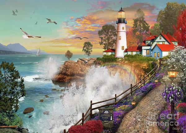 Lighthouses Digital Art - Lighthouse Park by MGL Meiklejohn Graphics Licensing