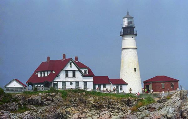 Photograph - Lighthouse - Portland Head, Maine 3 by Frank Romeo