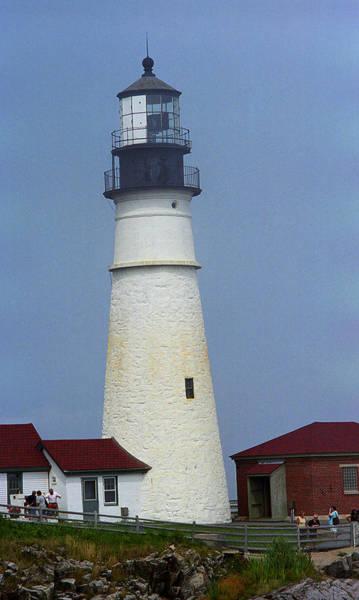 Photograph - Lighthouse - Portland Head, Maine by Frank Romeo