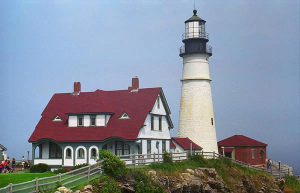 Photograph - Lighthouse - Portland Head Maine 2 by Frank Romeo