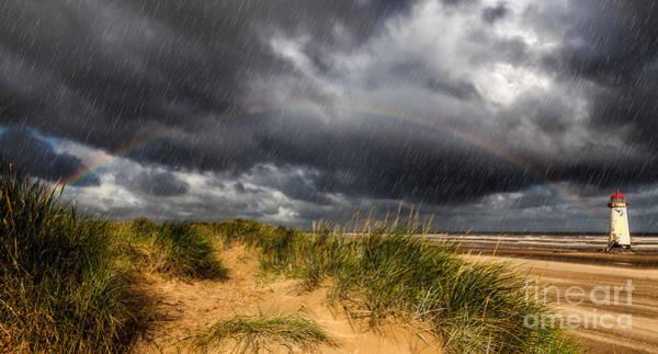Photograph - Lighthouse Rainbow by Adrian Evans