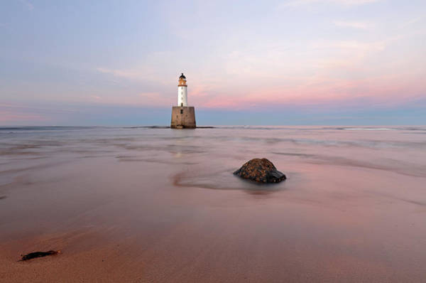 Photograph - Lighthouse Sunset Rattray Head by Grant Glendinning