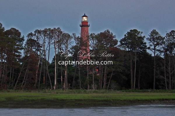 Photograph - Lighthouse Refurbish At Sunset by Captain Debbie Ritter