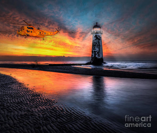 Photograph - Lighthouse Rescue by Adrian Evans