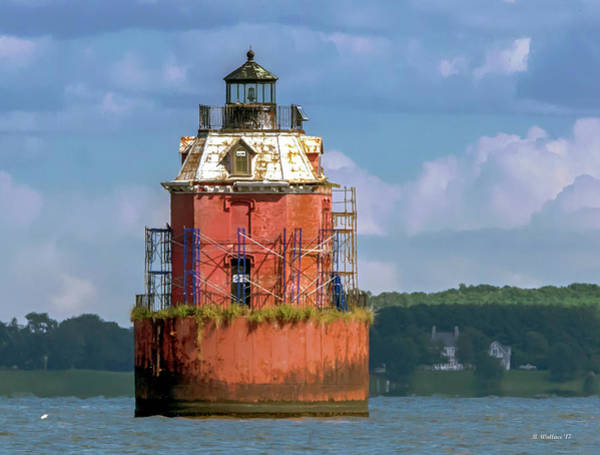 Sandy Point State Park Photograph - Lighthouse Restoration by Brian Wallace