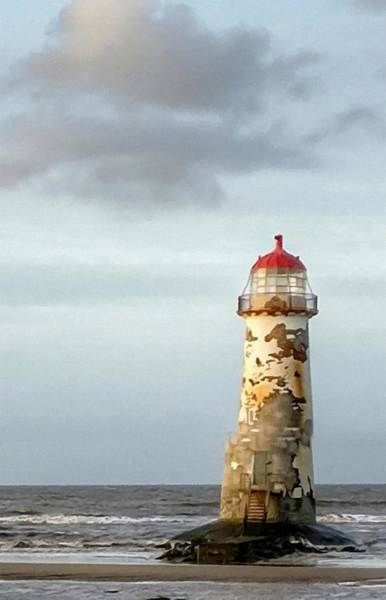 Wales Mixed Media - Lighthouse Revisited by Abbie Shores