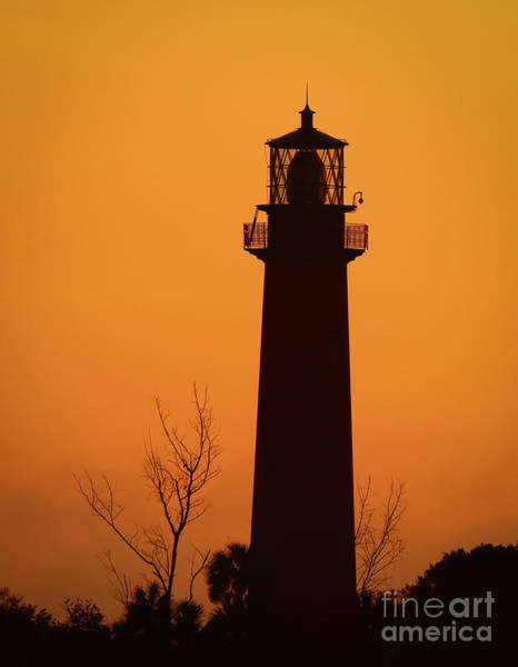 Photograph - Lighthouse Silhouette At Dawn by Tom Claud