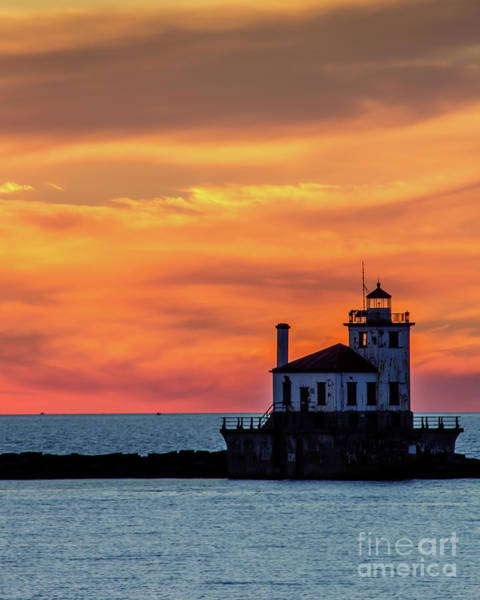 Photograph - Lighthouse Silhouette by Rod Best