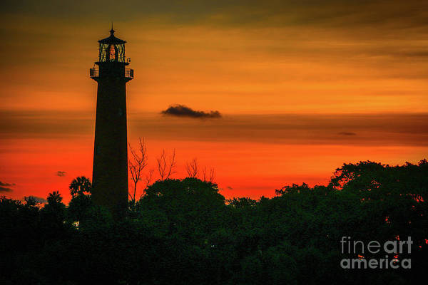 Photograph - Lighthouse Silhouette by Tom Claud
