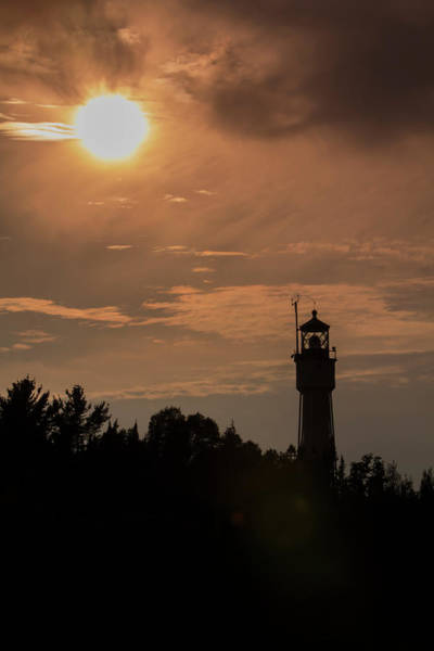 Photograph - Lighthouse Silhouette - Vertical by Patti Deters