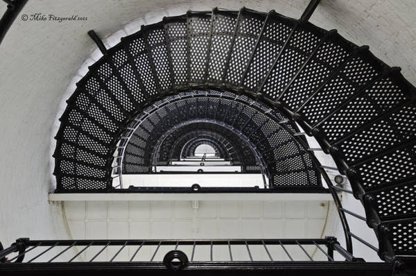 Photograph - Lighthouse Spiral by Mike Fitzgerald