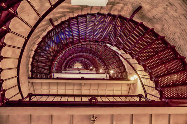 Photograph - Lighthouse Stairwell by Mick Burkey