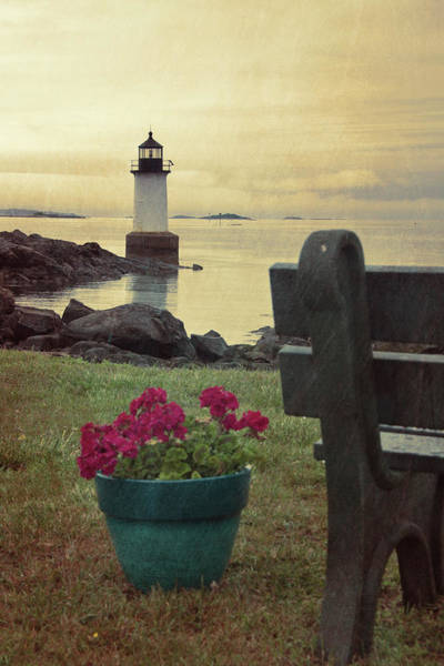 Photograph - Lighthouse Storm - Fort Pickering Light  by Joann Vitali