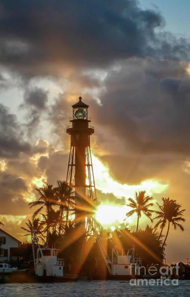 Photograph - Lighthouse Sunburst #1 by Tom Claud