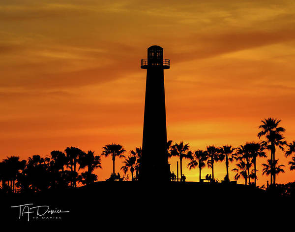 Photograph - Lighthouse by T A Davies
