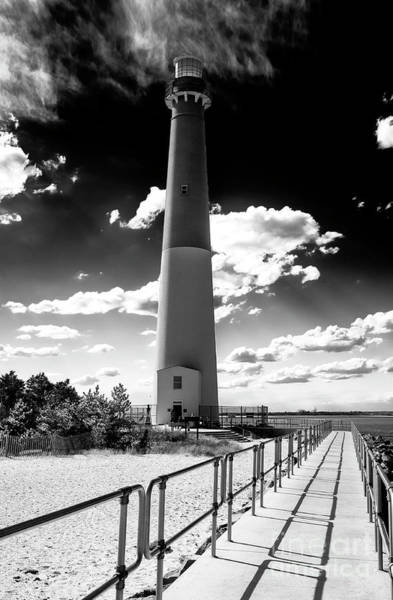 Lighthouse Walk Long Beach Island Art Print by John Rizzuto