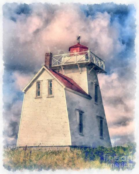 Digital Art - Lighthouse Watercolor by Edward Fielding
