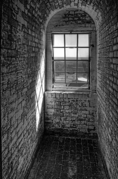 Photograph - Lighthouse Window  Black And White by Peter Tellone