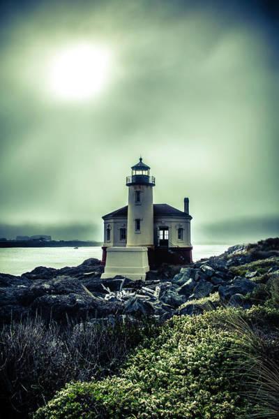 Wall Art - Photograph - Lighthouse With Foggy Sun by Garry Gay