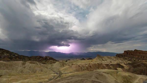 Photograph - Lighting Over The Amargosa Range by M C Hood
