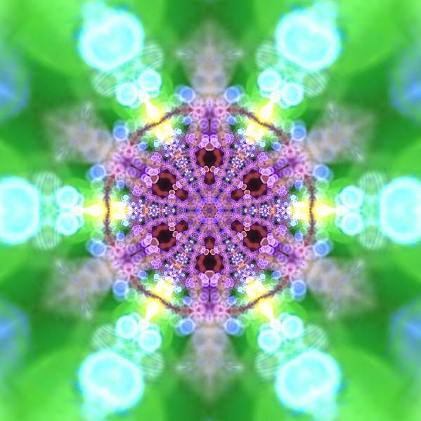 Digital Art - Lightmandala 6 Star 3 by Robert Thalmeier