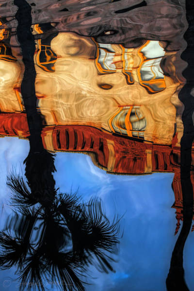 Photograph - Lightner Koi Pond Reflection II by Stacey Sather