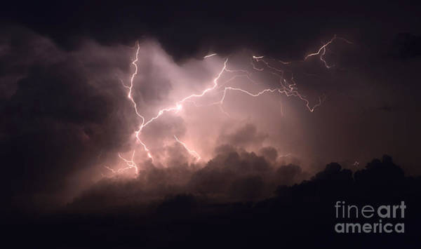 Electric Storm Photograph - Lightning 2 by Bob Christopher