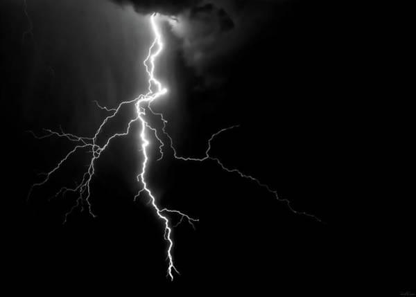 Photograph - Lightning Abstract by Rick Furmanek