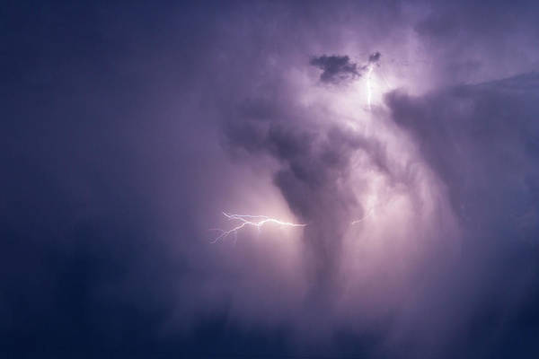 Photograph - Lightning And Storm Cloud by SR Green