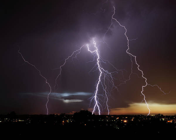 Photograph - Lightning At Dusk by Brad Wenskoski