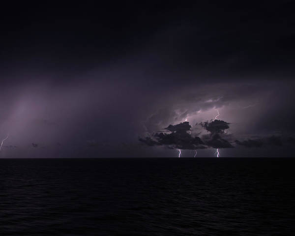 Photograph - Lightning At Sea IIi by William Dickman