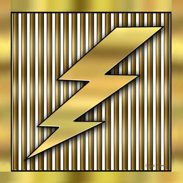 Digital Art - Lightning Bolt by Chuck Staley