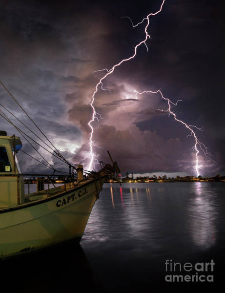 Wall Art - Photograph - Lightning On The Capt. Cj by Jon Neidert