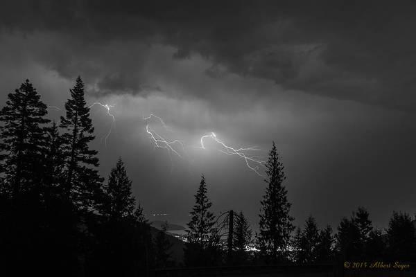 Photograph - Lightning Over Ponderay by Albert Seger