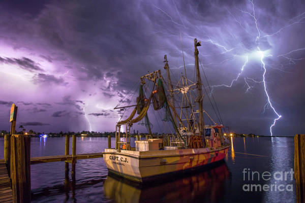 Wall Art - Photograph - Lightning Over The Horizon by Jon Neidert