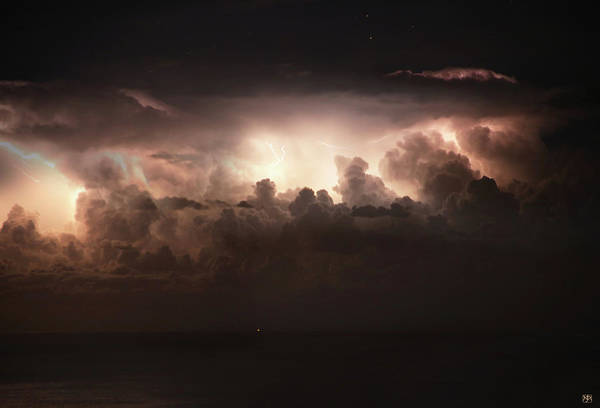 Photograph - Lightning Over The Straits Of Messina by John Meader
